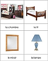 French Nomenclature Cards - Bedroom