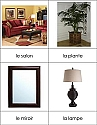 French Nomenclature Cards - Living Room