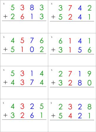math worksheet : math equations cards from montessori for everyone : Dynamic Addition Worksheets
