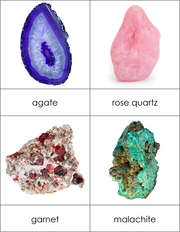 types of gemstones and minerals from montessori for everyone