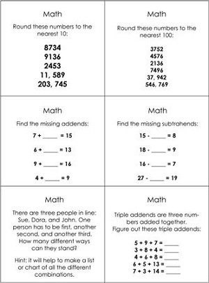 Advanced Math Studies Command Cards