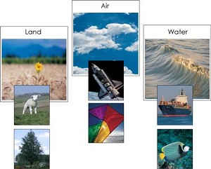 Land, Air, and Water Matching Cards