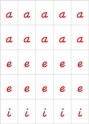 Movable Alphabet - Handwriting Black and Red