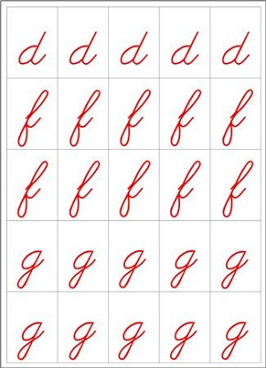 Movable Alphabet - Cursive Blue and Red