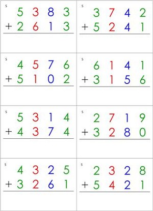 Math Equations Cards (Prepared Equations)