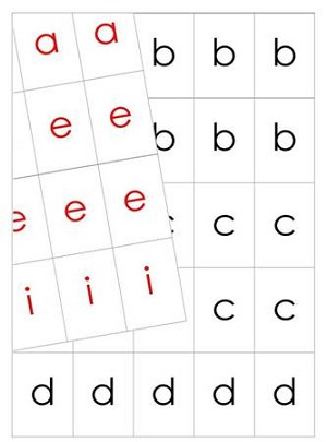 Movable Alphabet - Print Black and Red