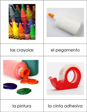 Spanish Nomenclature Cards - Art Supplies