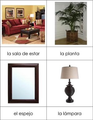 Spanish Living Room Nomenclature From Montessori For Everyone