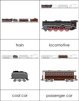 Parts of a Train Nomenclature Cards
