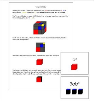 Trinomial Cube Cards and Equations