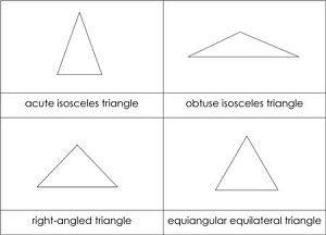 Types of triangles cards from montessori for everyone types of triangles nomenclature cards ccuart Gallery