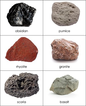 Types of rocks sorting cards from montessori for everyone for Soil forming minerals